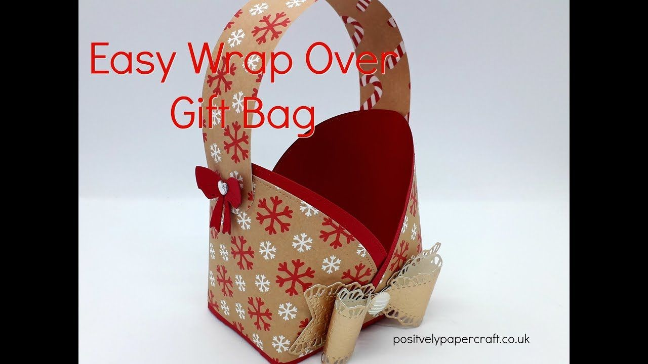 Gorgeous Wrap Over Gift Bag Tutorial Youtube Bags Tutorial Gift Bag Craft Box