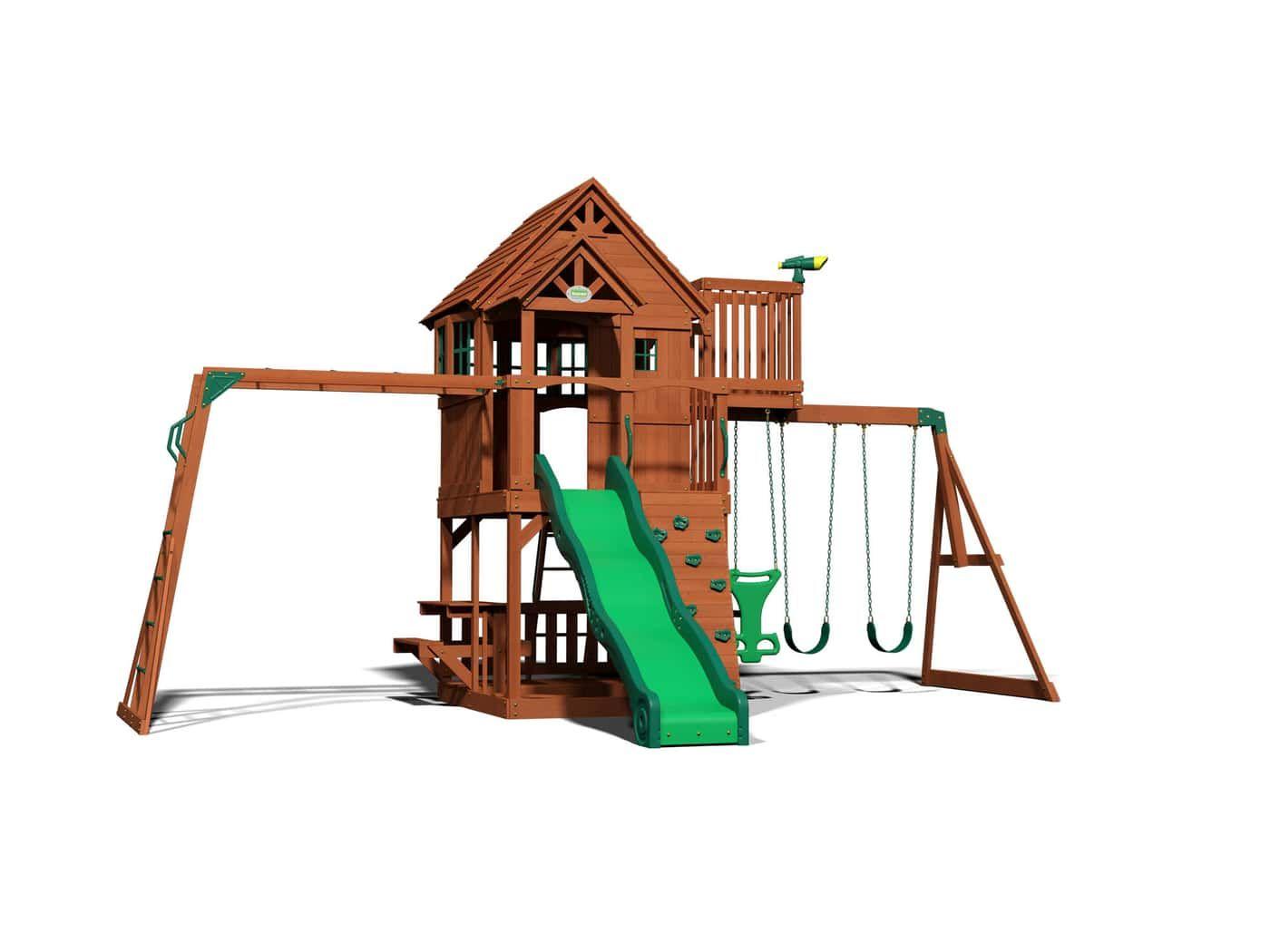 Skyfort Ii Wooden Swing Set Cedar