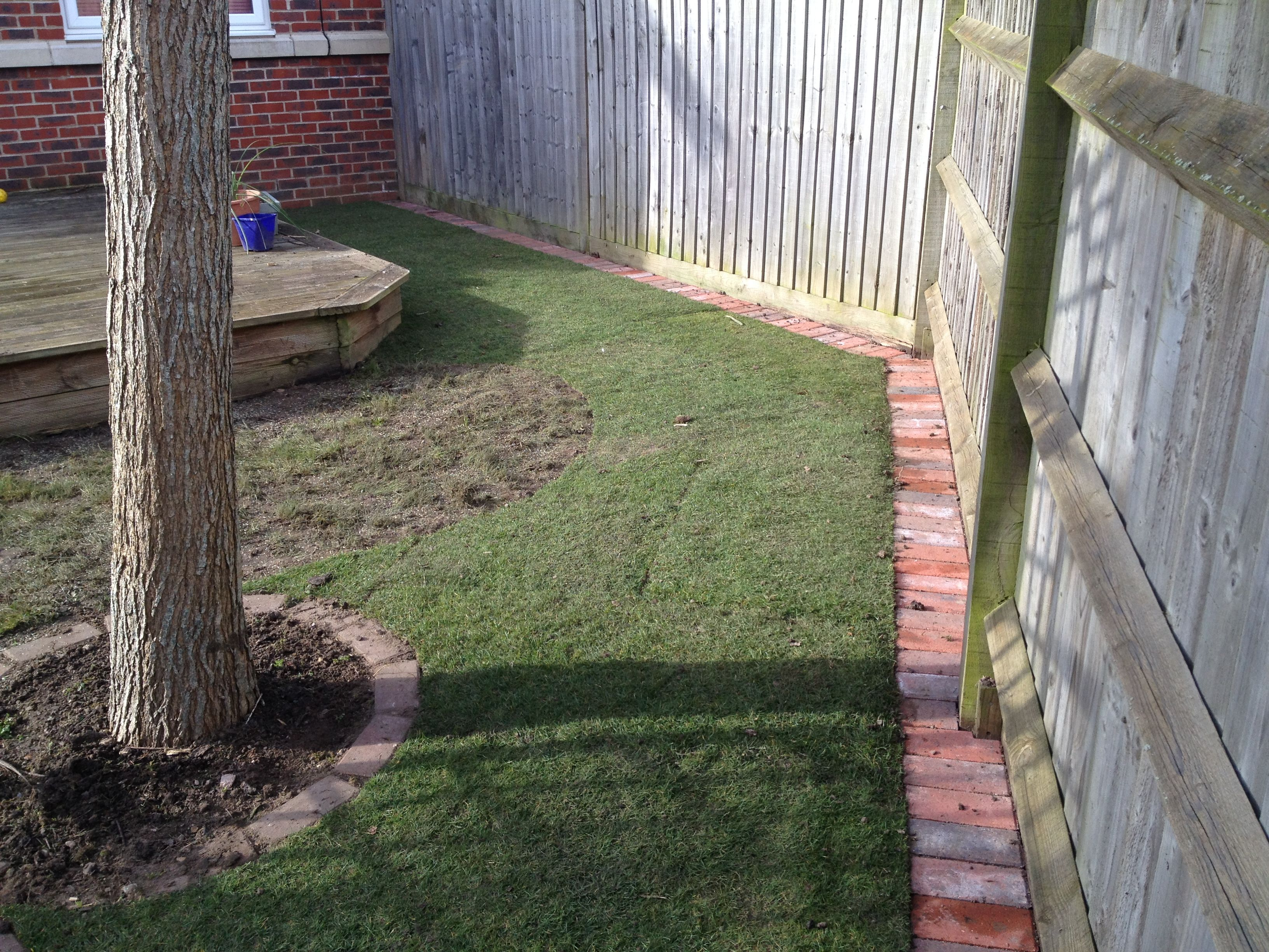 How To Do Brick Edging Newly Created Lawn Edge Along