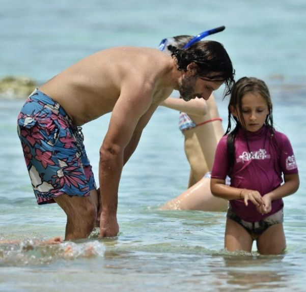 Photo of Andrew Lincoln  & his  Daughter  Matilda Clutterbuck