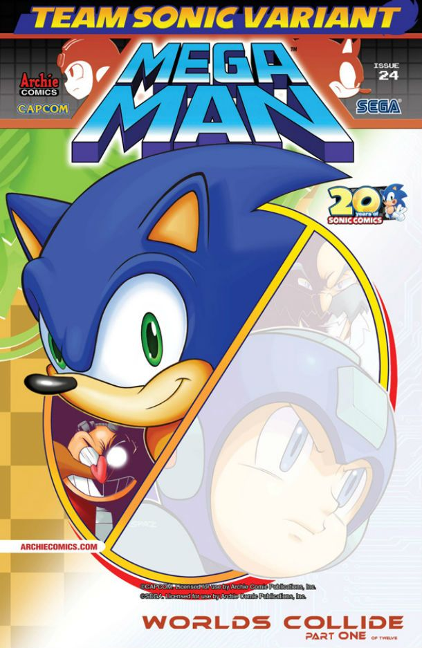sonic mega man worlds collide comic book review features www