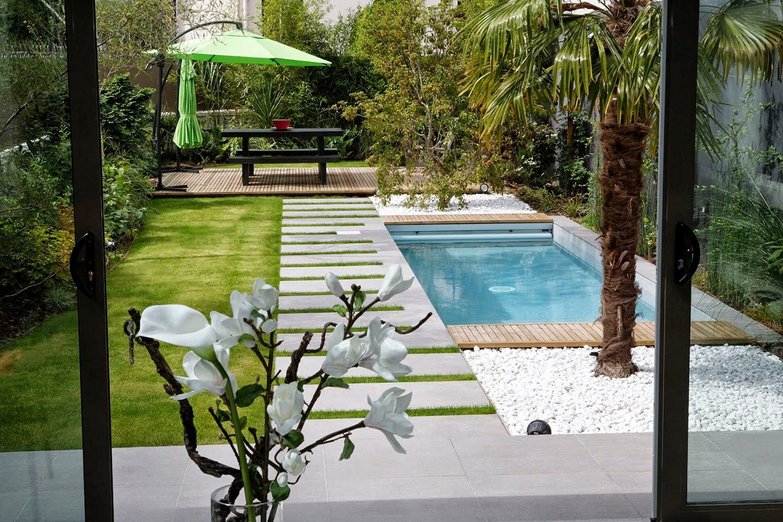15 Incredible Small Landscaping Design With Mini Pool Ideas Small Backyard Pools Backyard Pool Landscaping Terrace Garden Design Mini pool in backyard