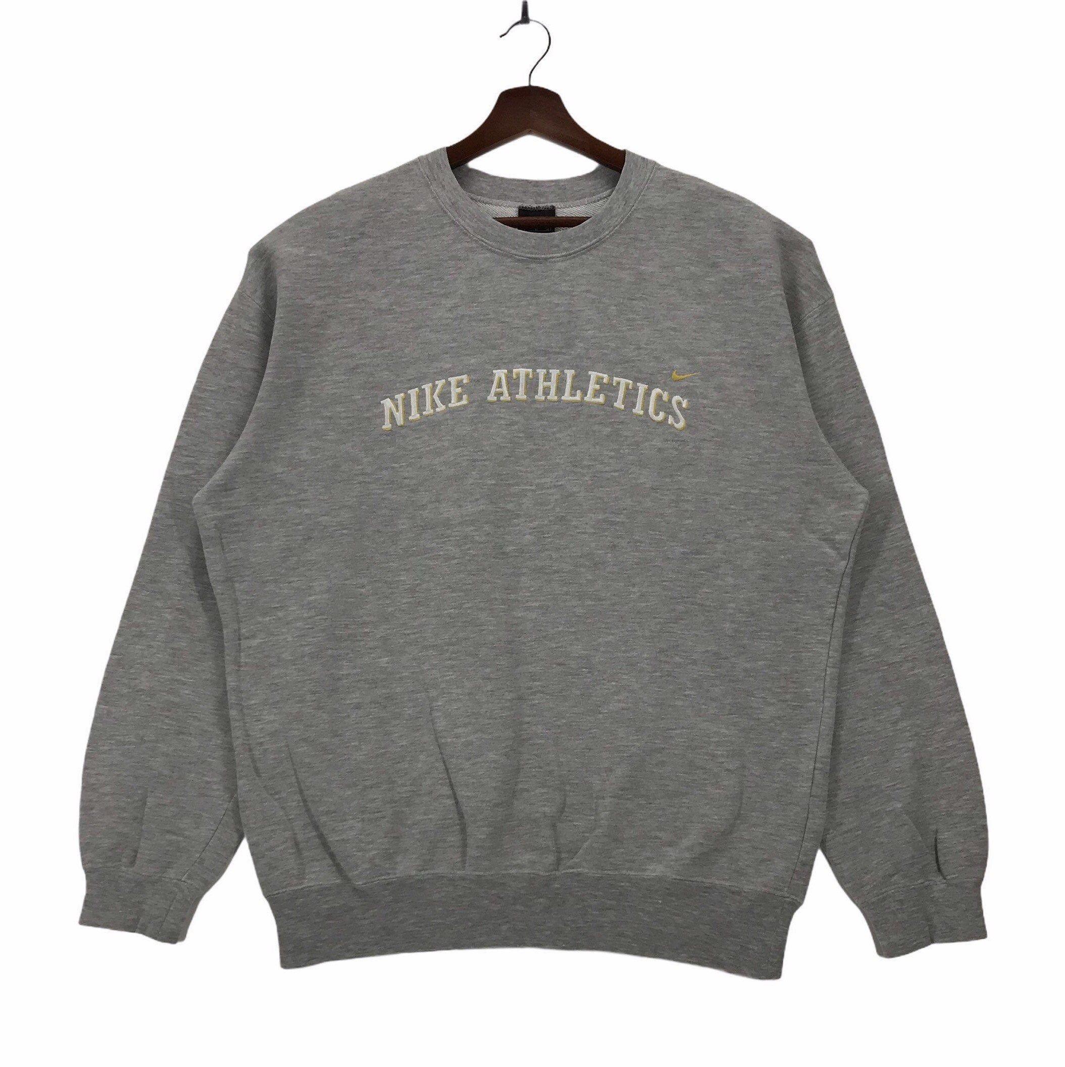 Vintage 90s Nike Sweatshirt Crewneck Spellout Nike Athletics Etsy Sweatshirts Vintage Sweatshirt Nike Sweatshirts [ 2113 x 2109 Pixel ]