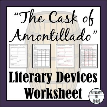 irony in the cask of amontillado worksheet