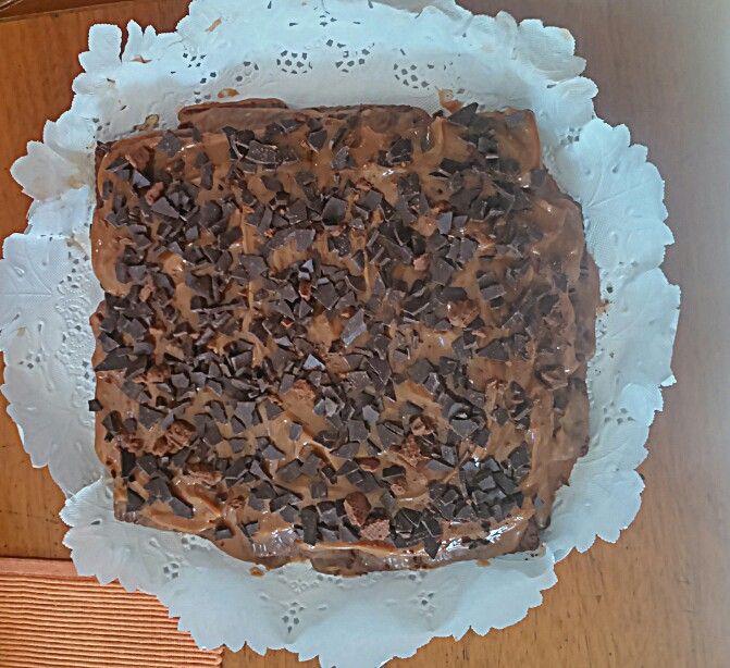 Chocotorta con granizo de chocolate