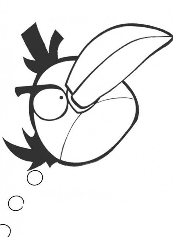 Pin Angry Birds Coloring Pages Yellow Bird Cake On