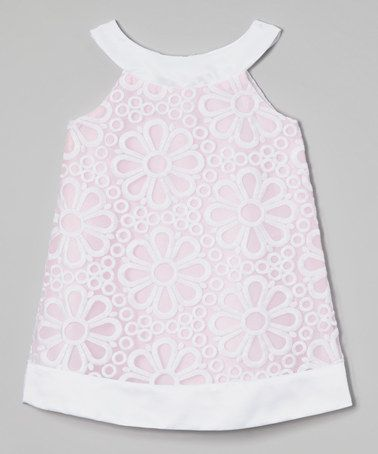 100009aa987 Look what I found on  zulily! Pink Daisy Yoke Dress - Girls by Sweet ...