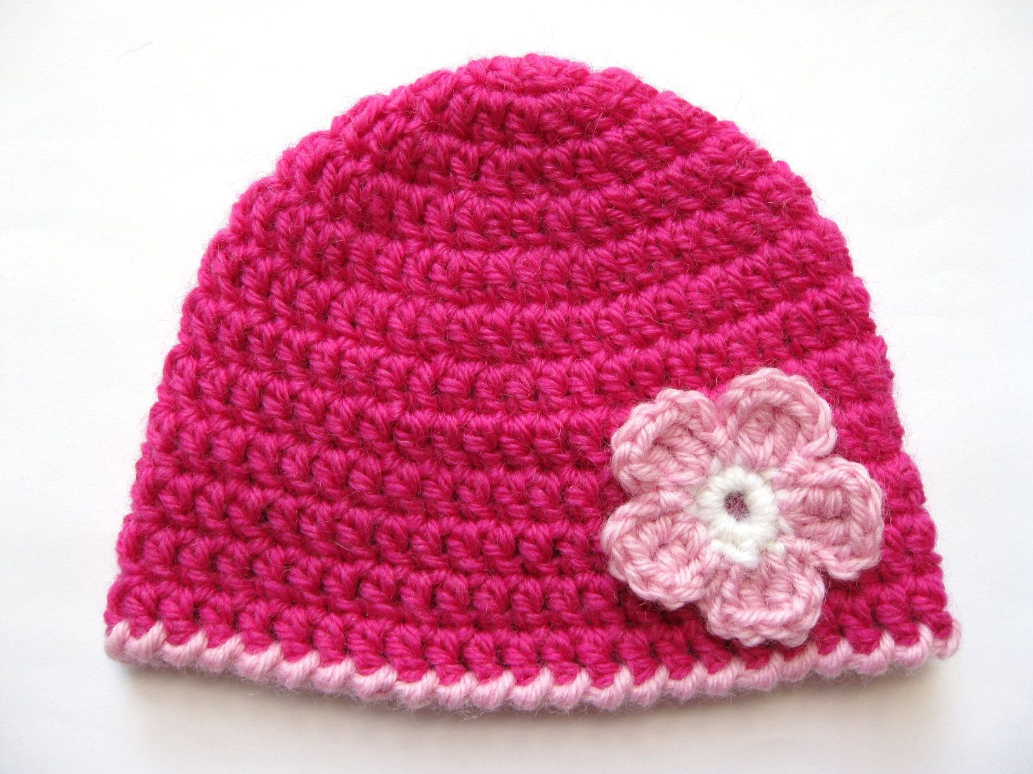 Instant download pattern crochet preemie hat crochet pink flower instant download pattern crochet preemie hat crochet pink flower 8ply dk double knit light worsted edge bankloansurffo Choice Image
