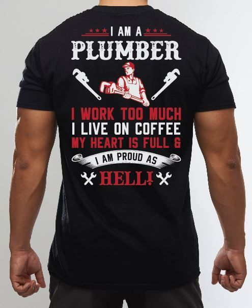 Mens Proud Funny Plumbing Shirts And Hoodies Classic Tee Navy In