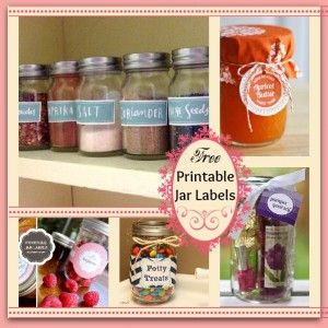 5 Sets of Free Printable Jar Labels - Fun Free Pri
