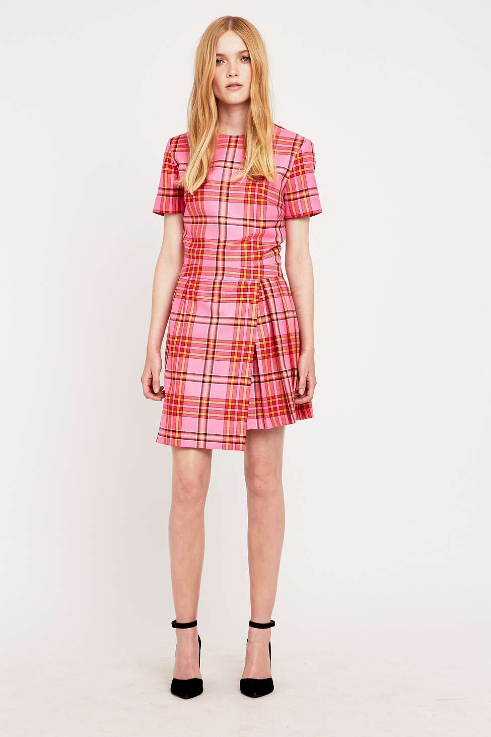 House of Holland Pink Tartan Kilt Dress