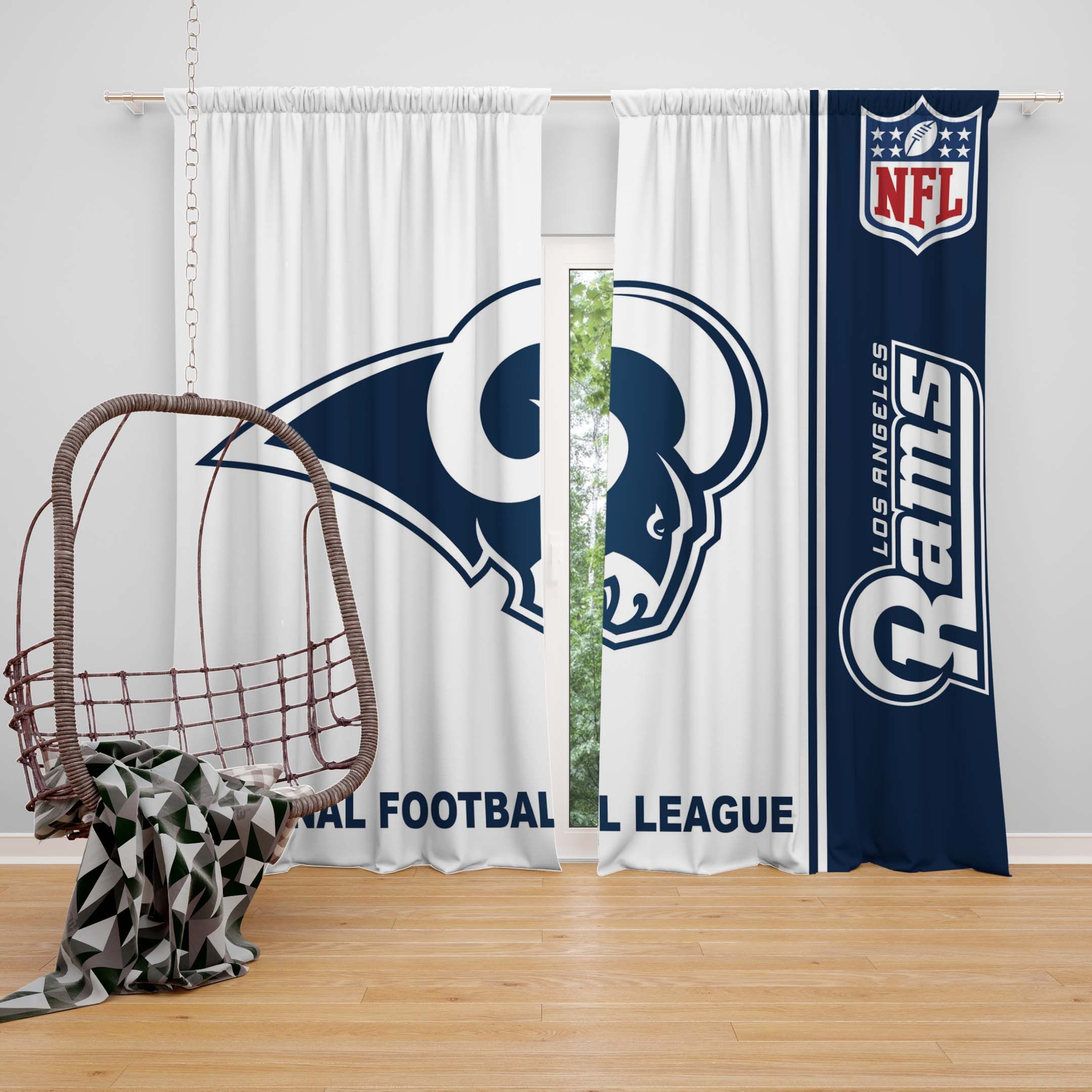 Nfl los angeles rams bedroom curtain nfl american football league