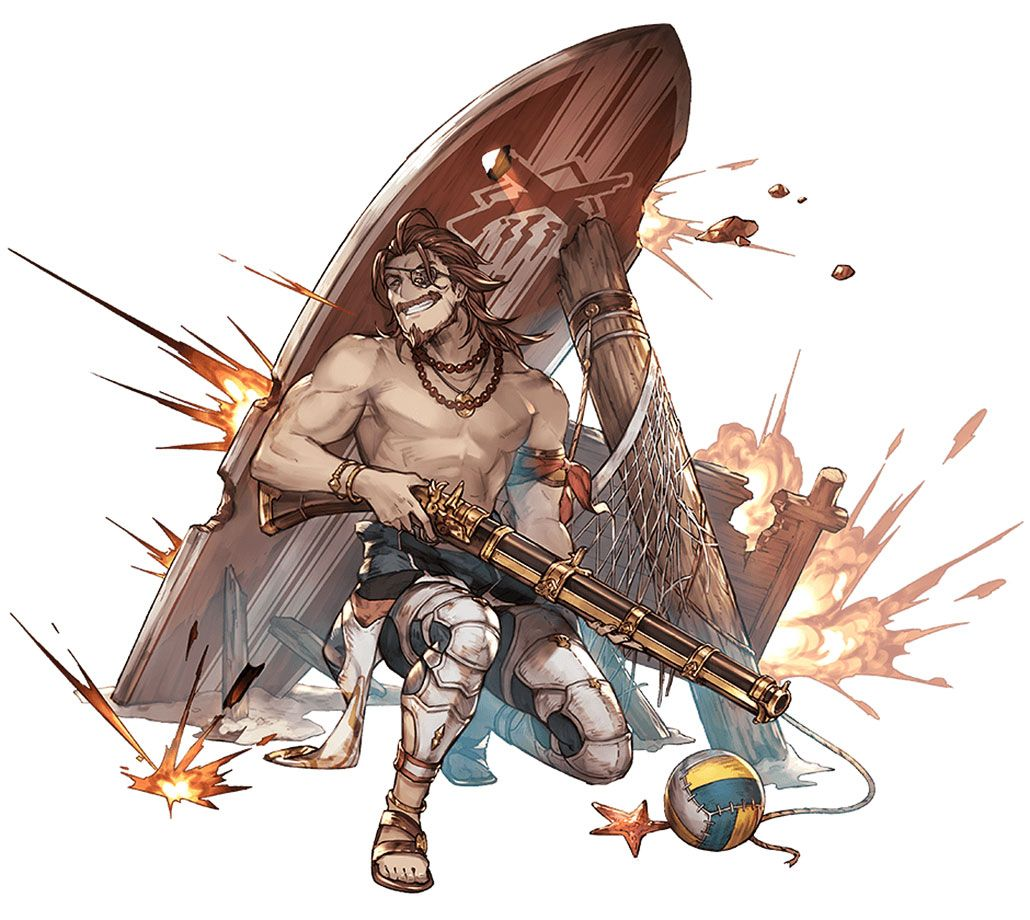 Summer Eugen, Battle Art from Granblue Fantasy art