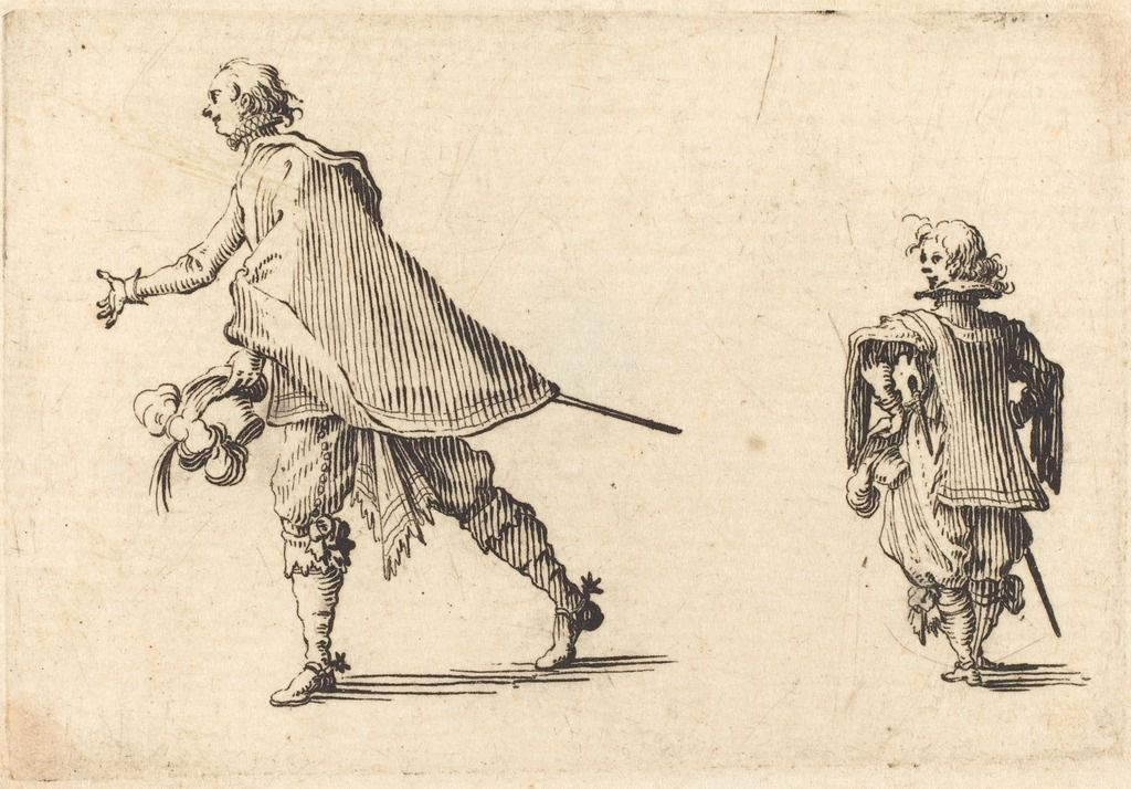 Gentleman and His Page | Jacques Callot, Gentleman and His Page (ca. 1617)