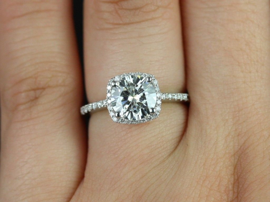 GORGEOUS 1 carat cushion cut engagement rings Google Search