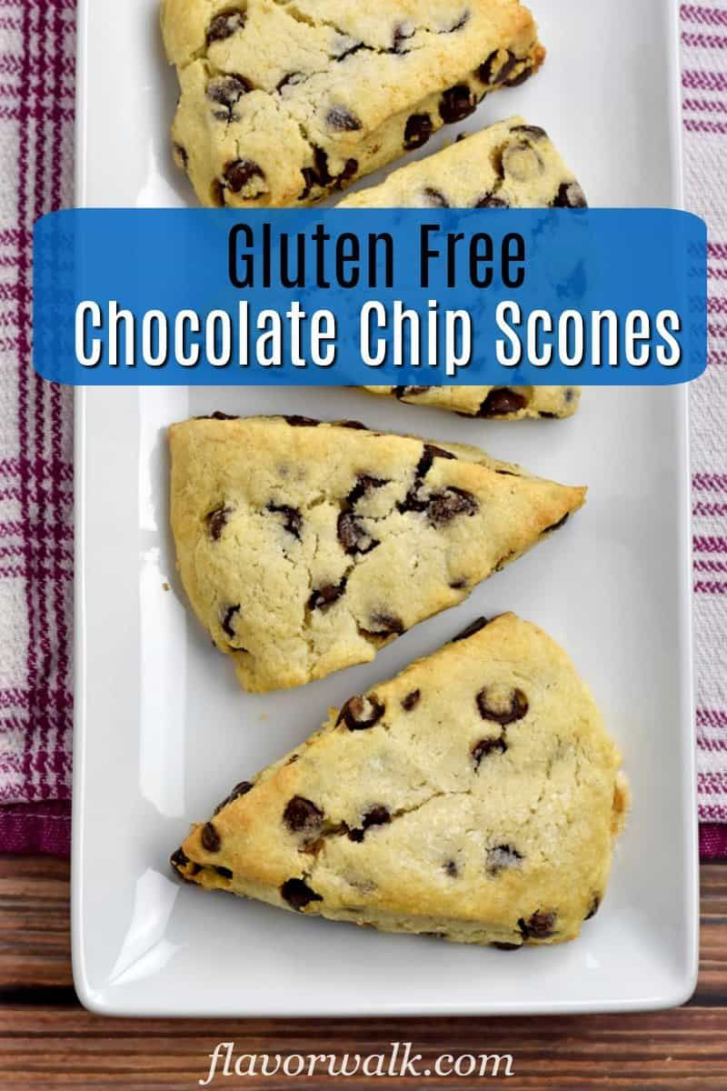 Gluten Free Chocolate Chip Scones #glutenfreebreakfasts