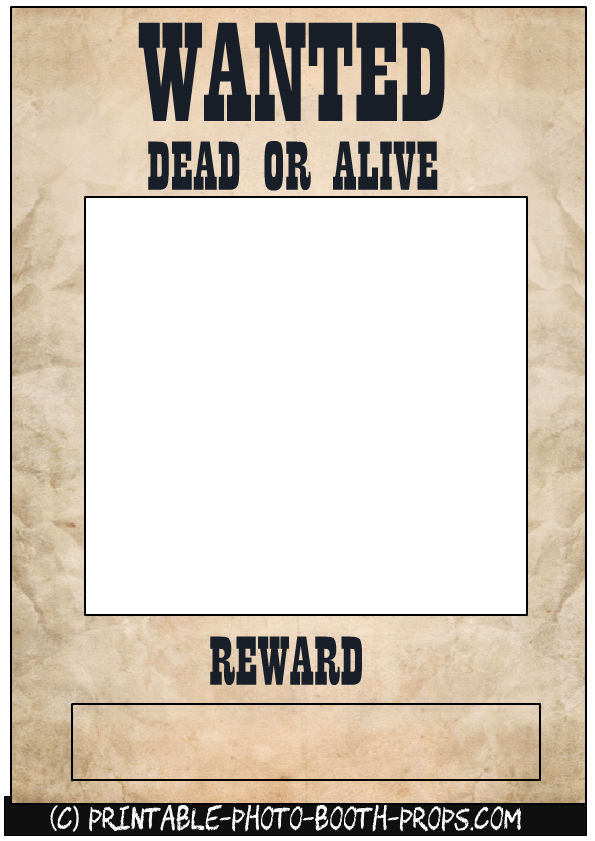 Wanted Dead or Alive Frame | Free Printables in 2018 | Pinterest ...