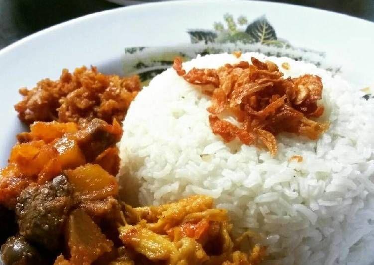Resep Nasi Uduk Komplit Oleh Naimah Nor Recipe Food Rice Grains