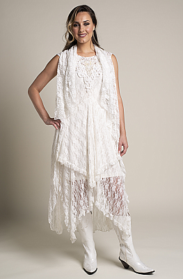 217cfe9f31b3 Romantic Long Lace Western Wedding Vest. (2 weeks to ship).  V01118 ...