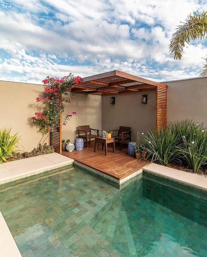 Rinconcitos rinconcitos pinterest for Piscinas en patios de casas