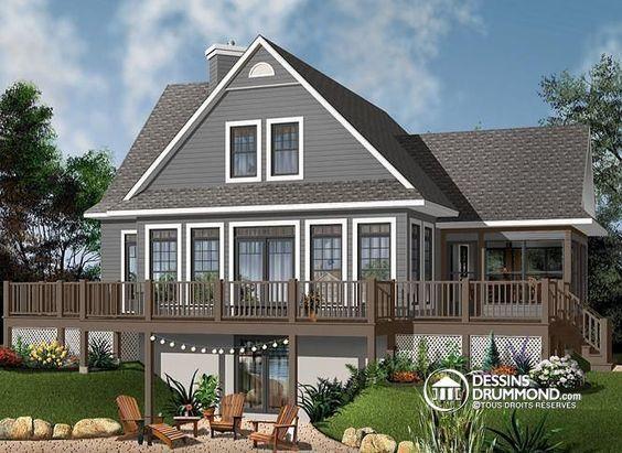 Plan de maison no W3914-V3 de dessinsdrummond Chalet Pinterest - forum plan de maison