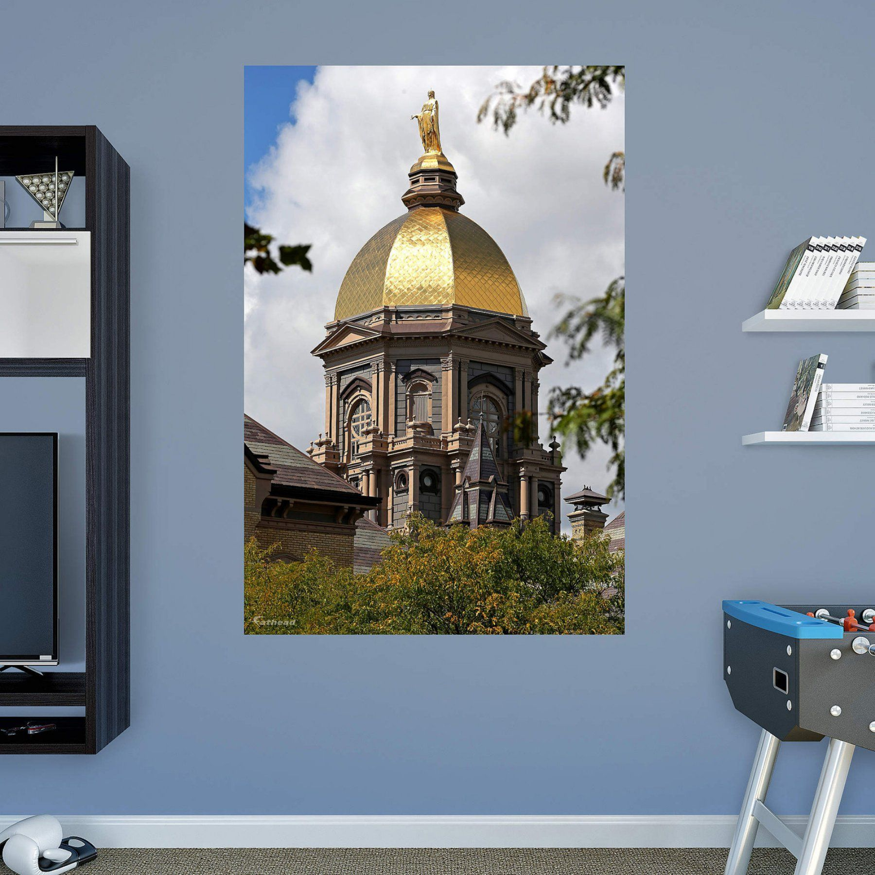 Fathead Notre Dame Golden Dome Wall Mural 17 10086 Notre dame