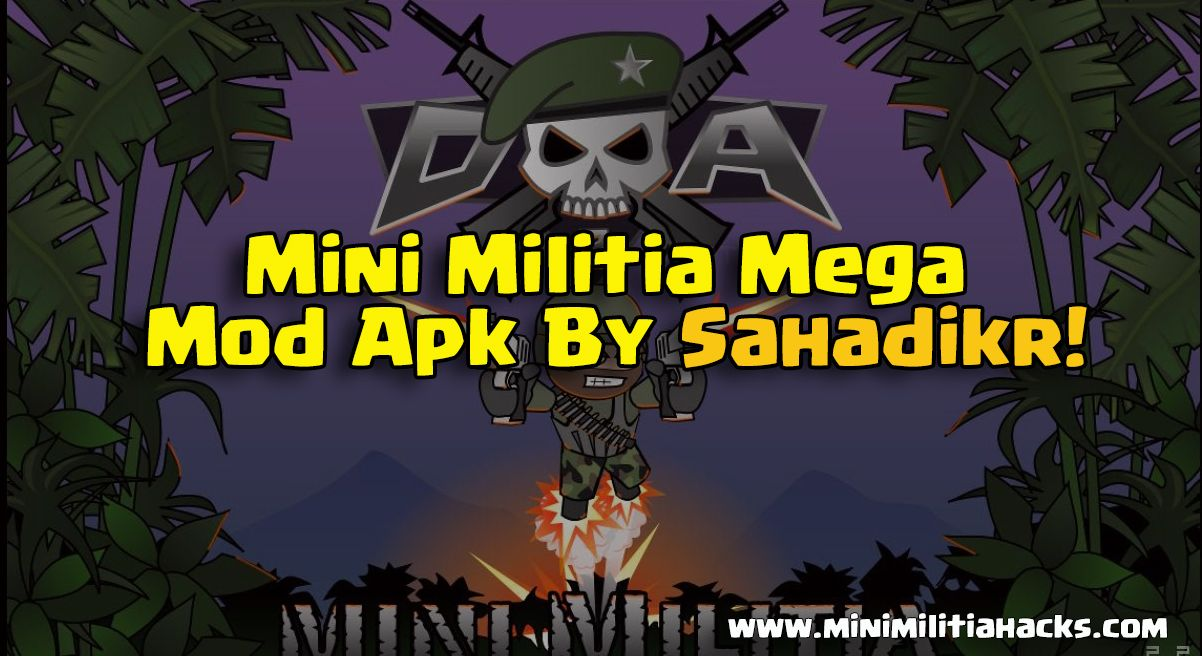 download mini militia god mod apk here