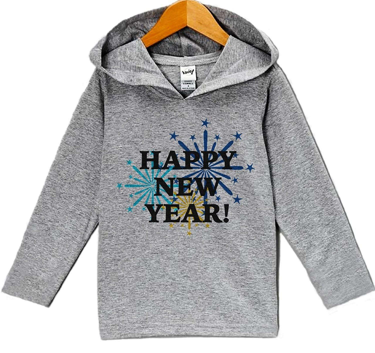 Custom Party Shop Baby Boy's Happy New Years Eve Hoodie Pullover