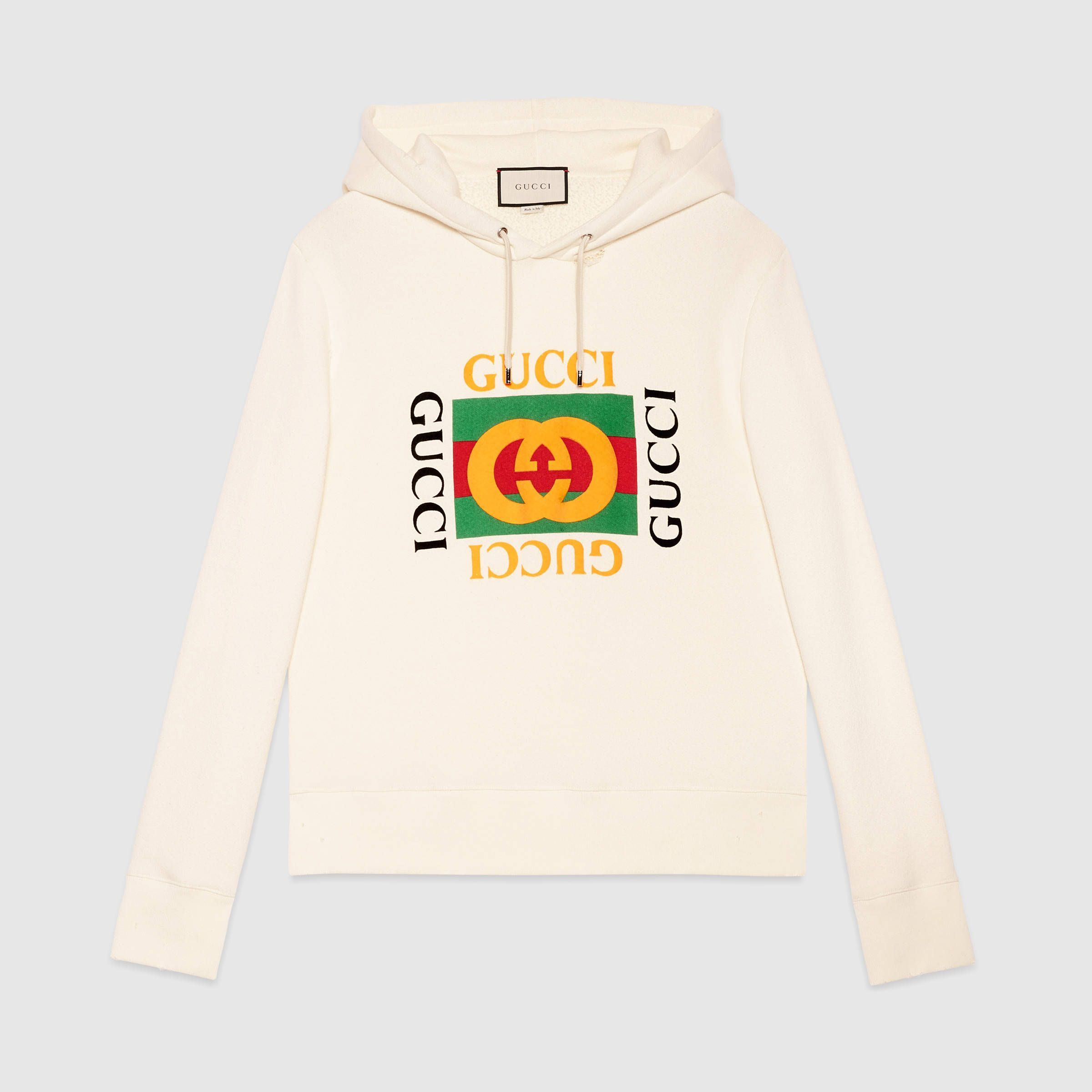 d288ace6 Oversize sweatshirt with Gucci logo in 2019   hoodie   Gucci hoodie ...