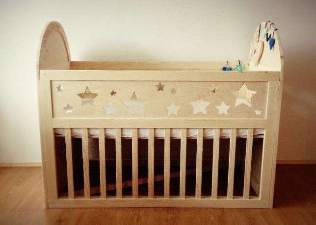 łóżko Drewniane Dziecięce Gwiazdki 2 Wymiary łóżeczko