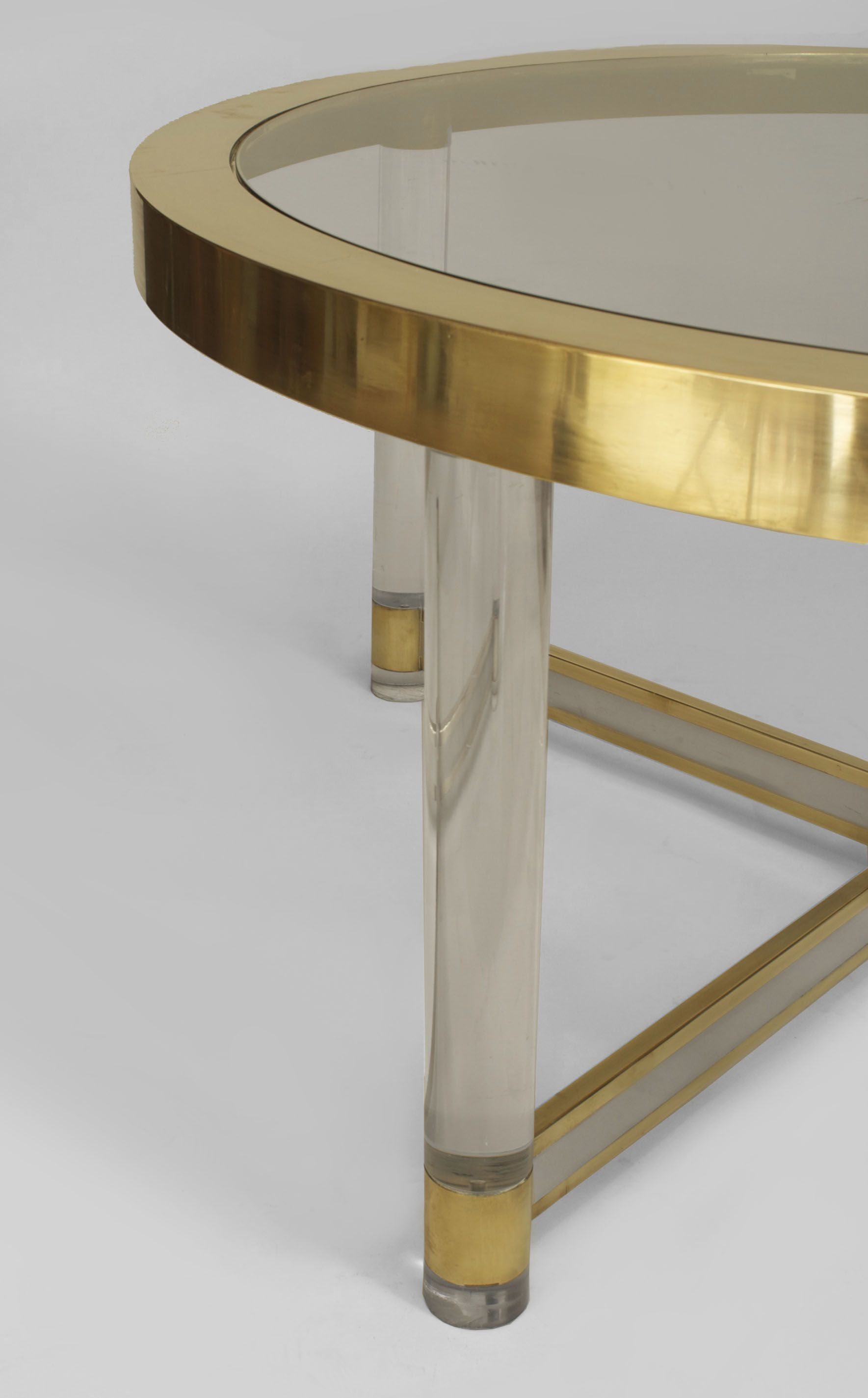 French Mid Century Glass And Brass Dining Table 1 Brass Dining Table Glass Coffee Table Acrylic Side Table [ 2850 x 1769 Pixel ]