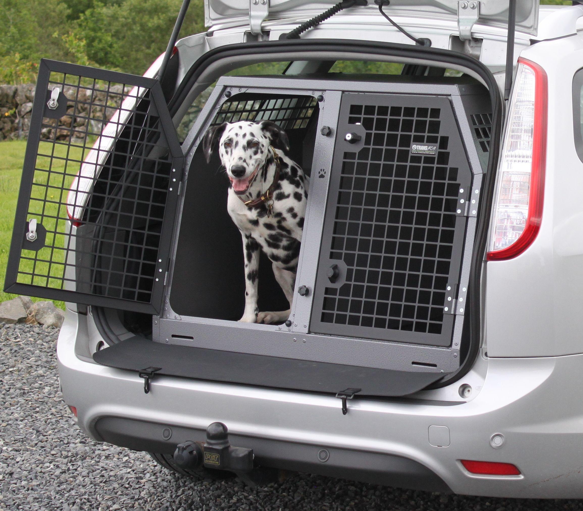 TransK9 B19 Ford Focus Estate Dog Transport Box #dogcage #dogcrate #dogbox #dalmation transport your dog safely! www.transk9.com