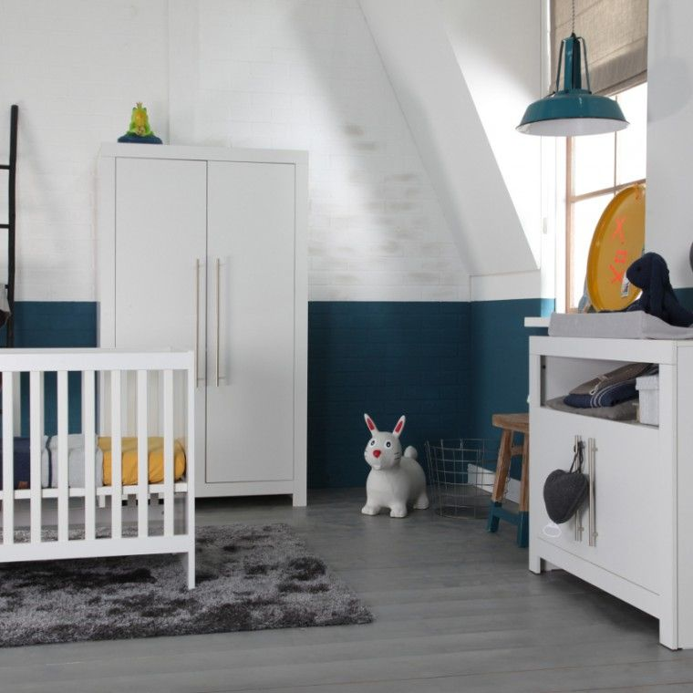 babykamer grijs/blauw/geel | babykamer | pinterest, Deco ideeën