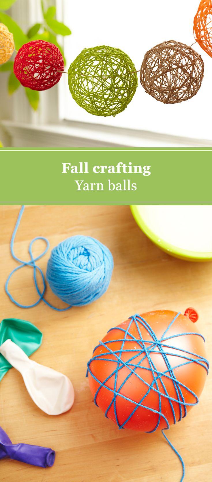 Diy Yarn Balls Diy Crafts For Adults Easy Yarn Crafts Yarn Ball