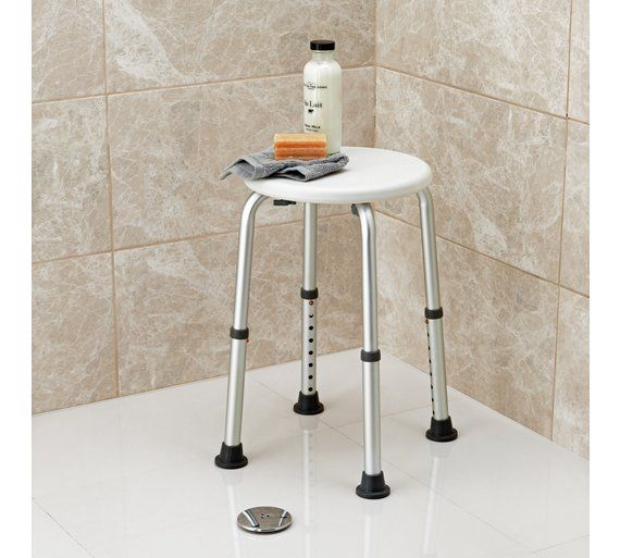 Buy Round Shower Stool Height Adjustable Shower chairs