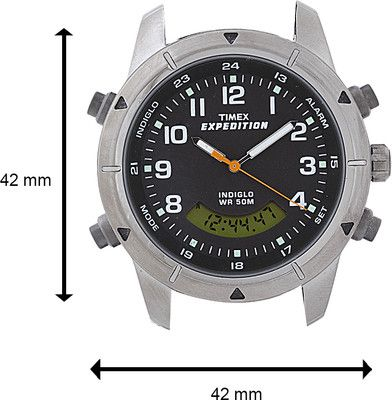 2c2f1a74b Lowest Price for Timex Expedition Combo Analog-Digital Watch - For Women,  Men (Metallic Grey) Price in India on 01 June, 2017 specifications,  features and ...
