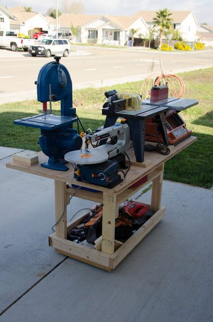 Mobile Power Tool Station Workshop Amp Workshop Storage