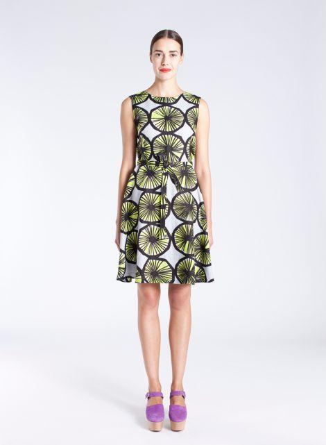 Limeloi-mekko (v.harmaa, lime, musta) |Vaatteet, Naiset, Mekot ja hameet | Marimekko