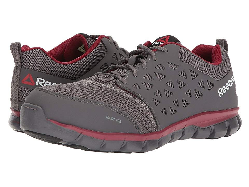 c03cbe5a0d38 Reebok Work Sublite Cushion Work EH (Grey Red Synthetic) Men s Work Boots.