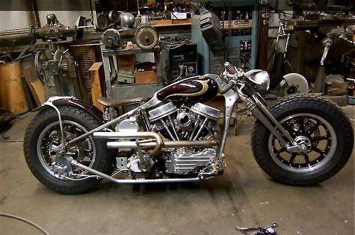 Bobber Inspiration | Custom panhead chopper | Bobbers and Custom Motorcycles