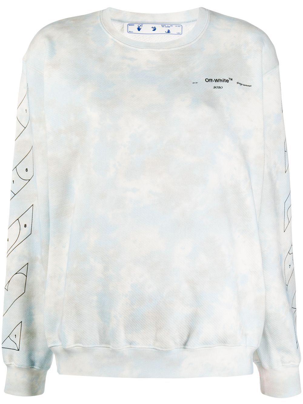 Off White Cloud Print Sweatshirt Farfetch In 2021 Off White Clothing Off White Sweatshirt Printed Sweatshirts [ 1334 x 1000 Pixel ]
