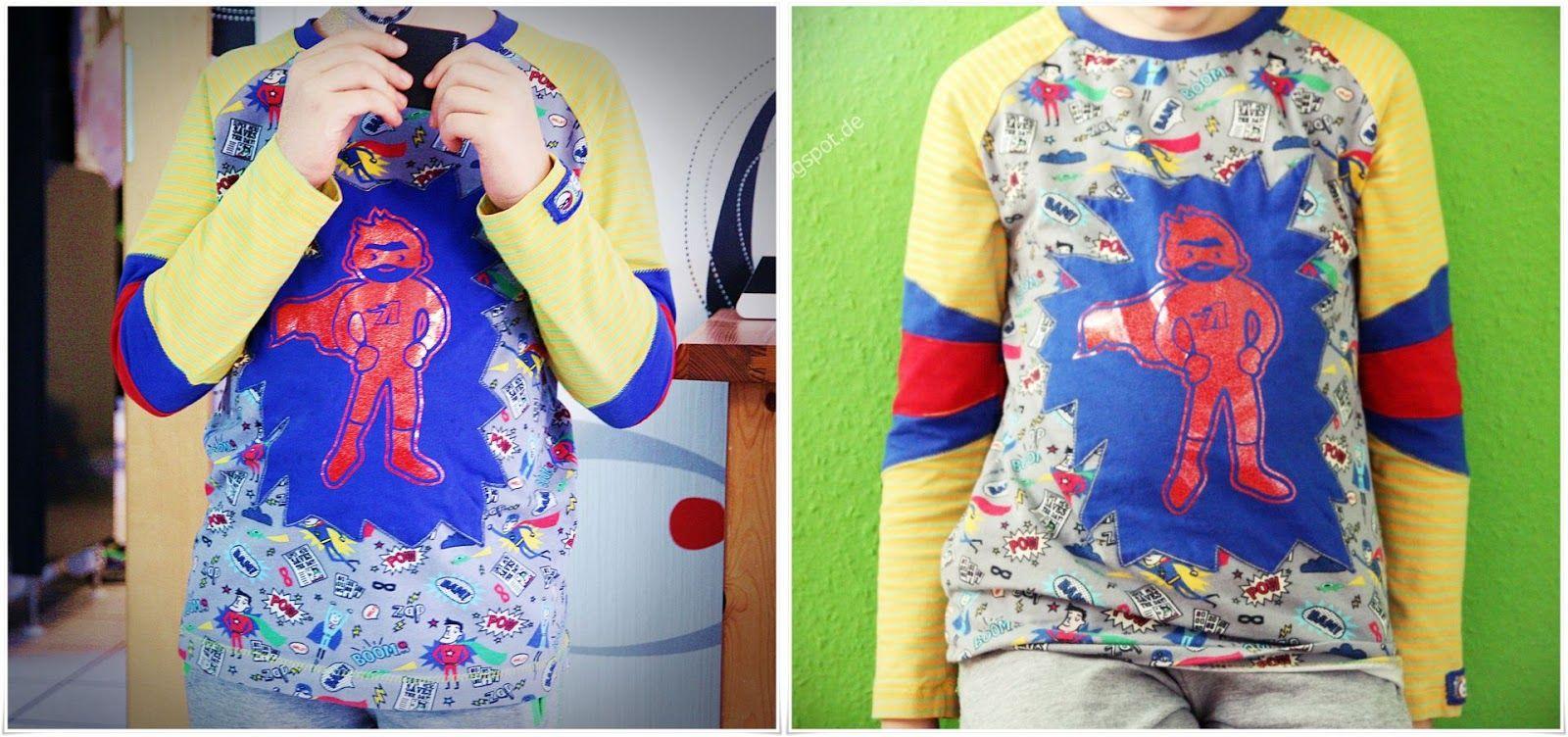 Shirt #Superhelden, Schnitt #henric von #kibadoo in Gr.134/140 ...