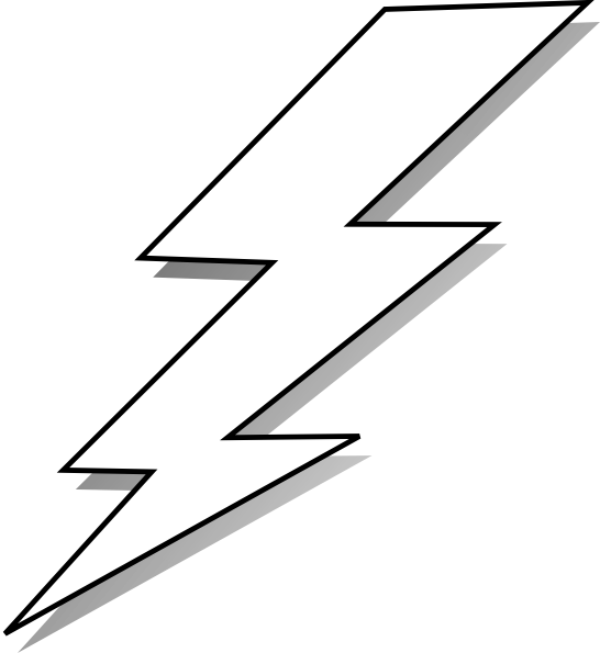 comic lightening black and white lightning bolt clip art vector rh pinterest ie