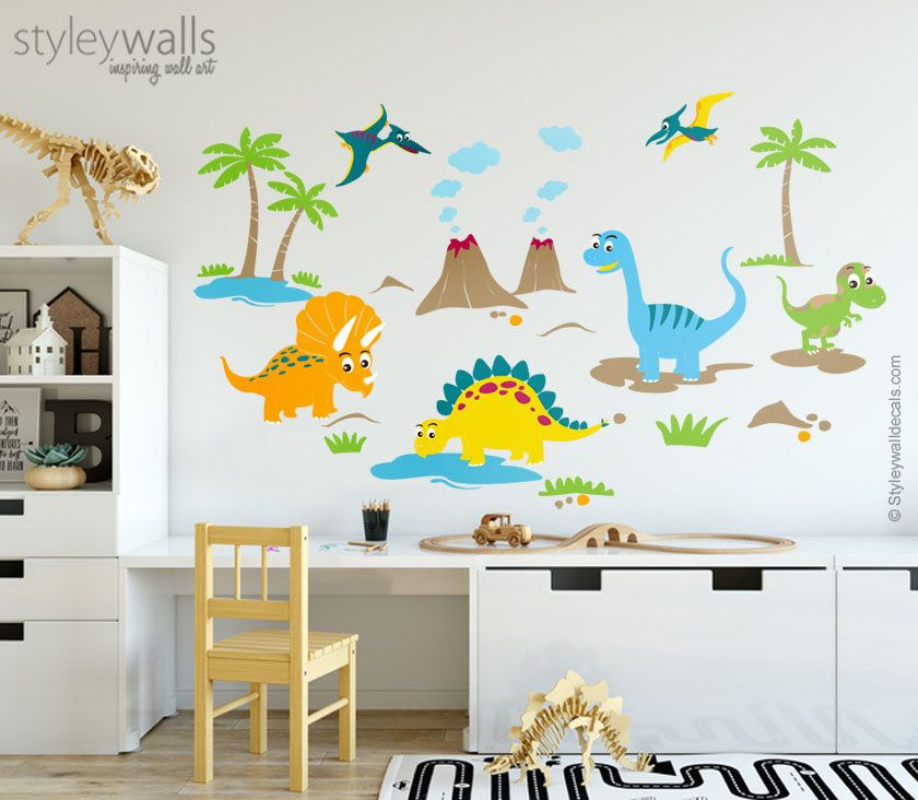 Dinosaurs Wall Decals For Nursery Dinosaurs Wall Stickers