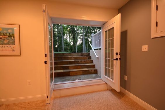 Lighting Basement Washroom Stairs: Basement Walk-out And Egress Windows Ideas