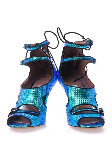 Shoebidou - Tabitha Simmons Bailey Hologram Highheel Sandals in Blue @ Lyst