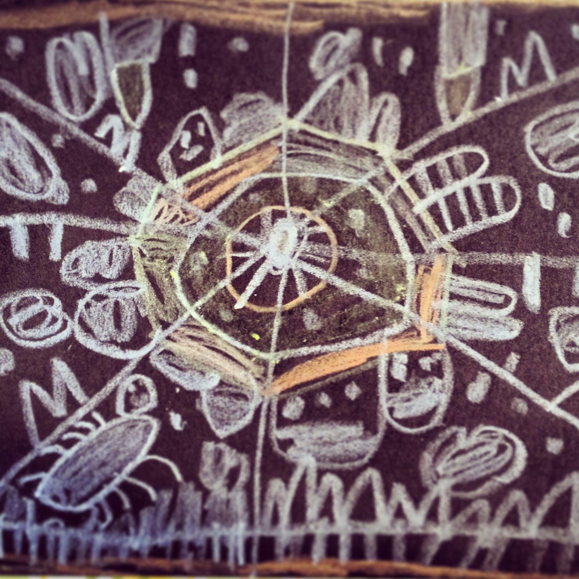 Spider Web Mandala In Chalk (4 Years Old), Artree