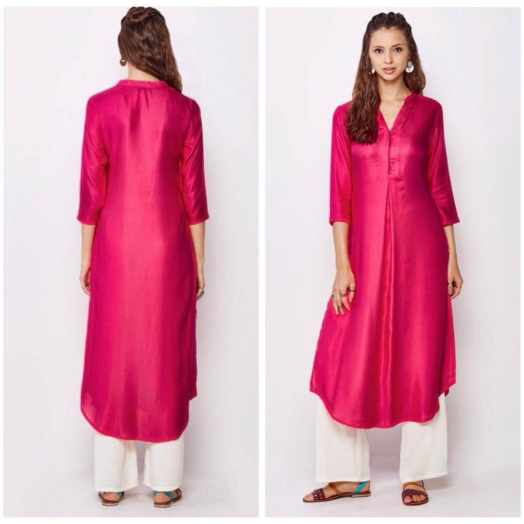 Plain Magenta Kurti | Buy Designer Tunic & Kurtis at G3 ...
