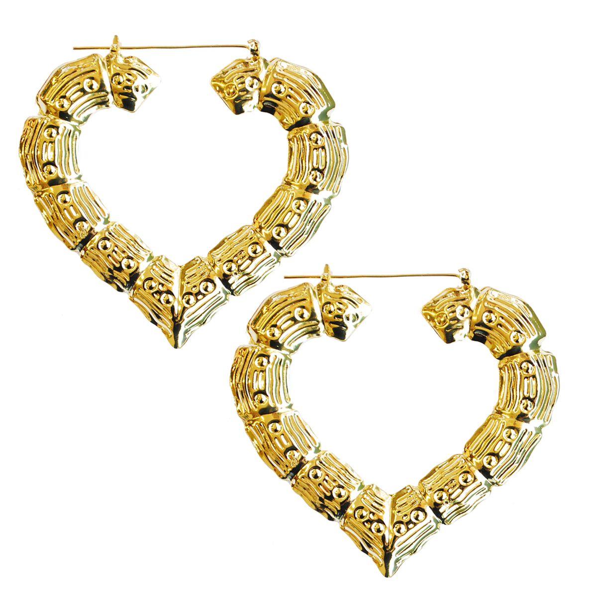 Bamboo Heart Earrings #bamboo #heart #