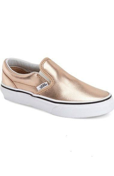 Classic  Metallic SlipOn Baby Walker Toddler Little Kid  Big Kid Metallic Leather Rose Gold back to school shoes for little girls candace rose nordstrom Source by UniqueN...